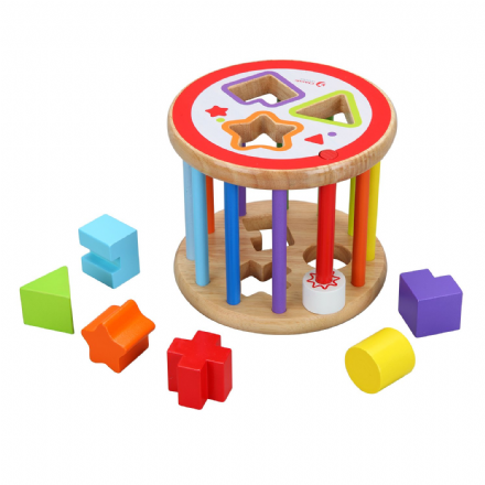 Classic World Wooden Shape Sorter Baby Toy